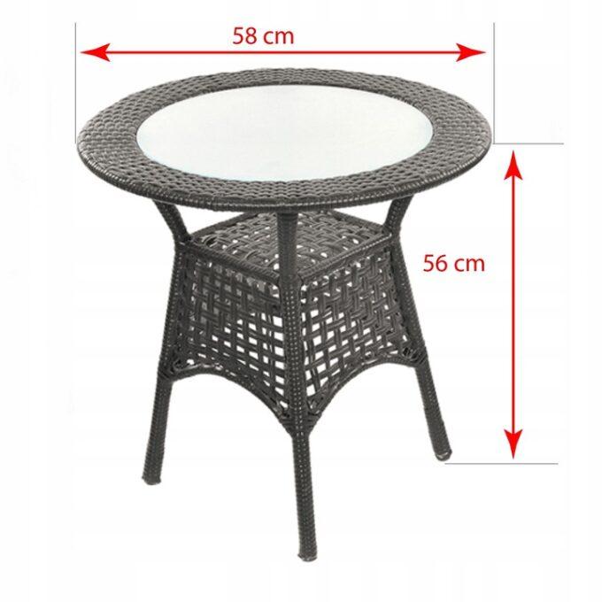 Комплект мебели из ротанга Saturn размер стола